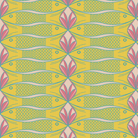 Fish and Coral fabric by sary on Spoonflower - custom fabric