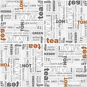 Typogra-Tea Fabric