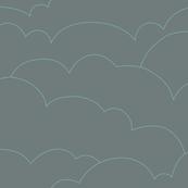 skyline clouds - gray