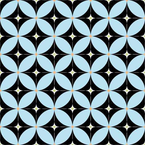 Bollywood_kolam2in_blue fabric by vannina on Spoonflower - custom fabric