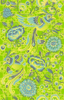 Flight of the Peacock - green version