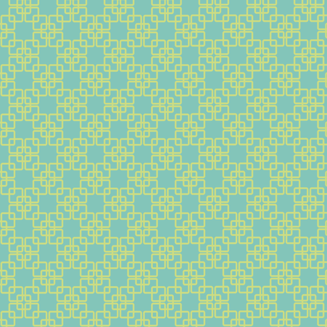 Flight of the Peacock - coordinating blue fabric by irrimiri on Spoonflower - custom fabric