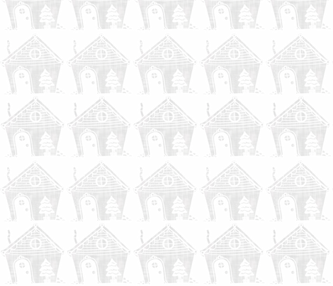 Ghost Gingerbread House fabric by rileymade on Spoonflower - custom fabric