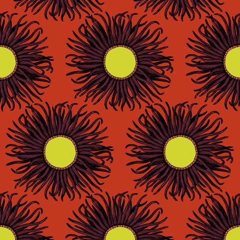 Creature Power Aubergine fabric by brainsarepretty on Spoonflower - custom fabric
