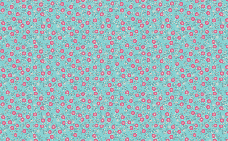 Flora (teal) fabric by biancagreen on Spoonflower - custom fabric