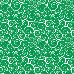 Fancy Swirls - Christmas Green