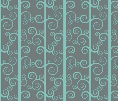 Swirly Tree Stripe fabric by shelleymade on Spoonflower - custom fabric