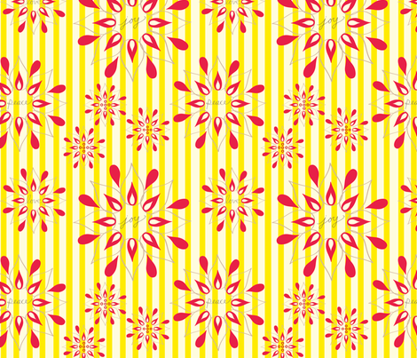 Mix + Match Poinsettia fabric by fable_design on Spoonflower - custom fabric