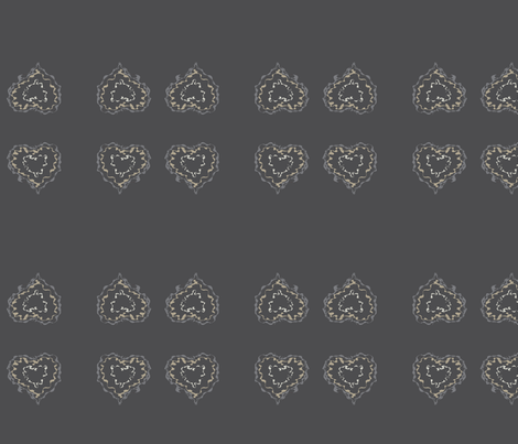 heart_scribble_grey fabric by msnina on Spoonflower - custom fabric