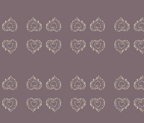 heart_scribble_purple fabric by msnina on Spoonflower - custom fabric