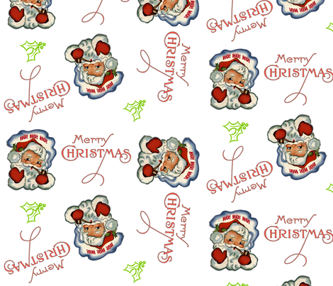 Retro Santa fabric by tulsa_gal on Spoonflower - custom fabric
