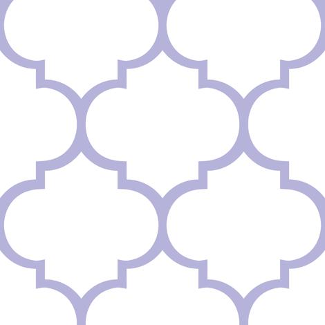 Fancy Lattice Lavender Outline fabric by zoetdesign on Spoonflower - custom fabric
