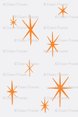 Mixers, Starbursts, white and orange-custom combo-ch
