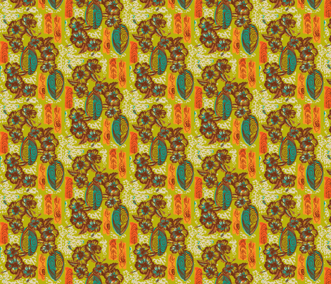 Honiara Hibiscus, late summer fabric by sophista-tiki_by_dawn_frasier on Spoonflower - custom fabric