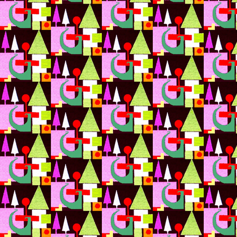 Small Christmas Scene fabric by boris_thumbkin on Spoonflower - custom fabric