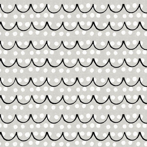 scallops and dots-neutral black and white