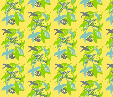 Birds fabric by kcs on Spoonflower - custom fabric