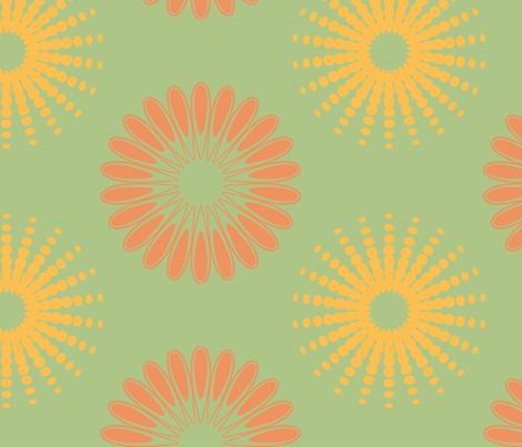 Flower Row fabric by angel_mio on Spoonflower - custom fabric