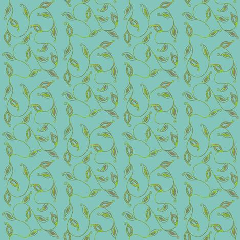 fancy_leaves-bl fabric by kerryn on Spoonflower - custom fabric