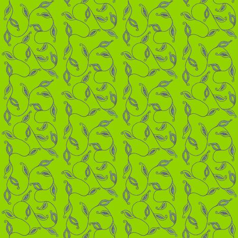 fancy_leaves-grn fabric by kerryn on Spoonflower - custom fabric