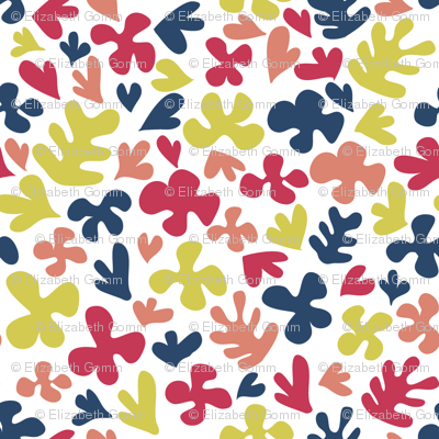 Matisse Inspired Fabric - Limited Palette