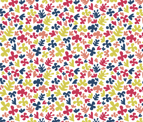 Matisse Inspired Fabric - Limited Palette fabric by ebygomm on Spoonflower - custom fabric