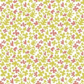 Matisse Inspired Fabric - Yellow & Peach