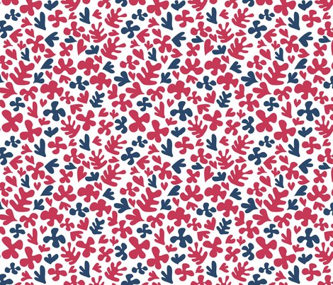 Matisse inspired fabric - blue & red fabric by ebygomm on Spoonflower - custom fabric