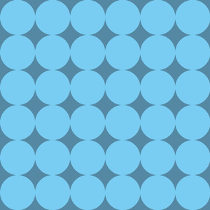 Mod blue circles on blue