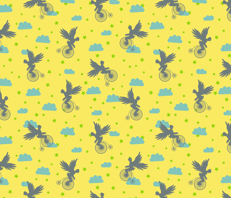 The Last Ride fabric by pininkie on Spoonflower - custom fabric