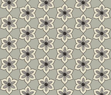 folkflower fabric by gretchendiehl on Spoonflower - custom fabric