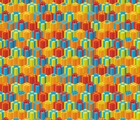 Festive Stacks of Presents! fabric by georgenasenior on Spoonflower - custom fabric