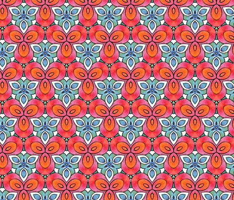 Seventies chic again fabric by lisa_cat on Spoonflower - custom fabric