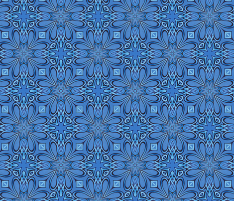 Tru blu too fabric by lisa_cat on Spoonflower - custom fabric