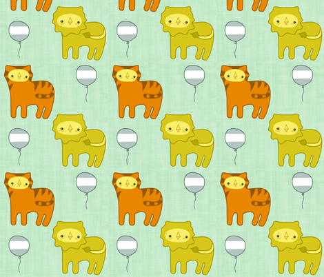 Lions & Tigers fabric by rileyconstruction on Spoonflower - custom fabric