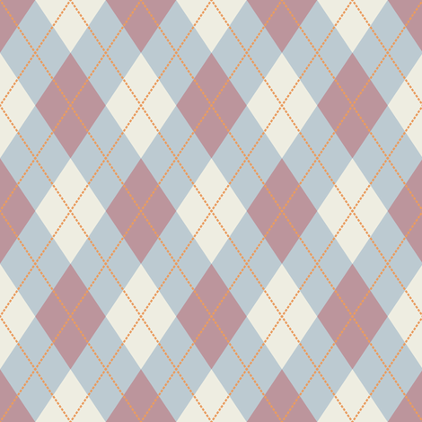 Mauve and Blue Argyle fabric by jumeaux on Spoonflower - custom fabric