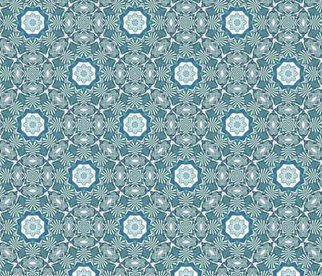Azure ink fabric by lisa_cat on Spoonflower - custom fabric