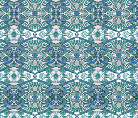 Azure inky fabric by lisa_cat on Spoonflower - custom fabric