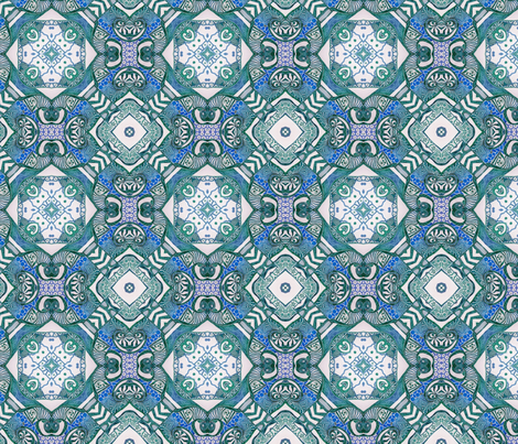Azure ink squared fabric by lisa_cat on Spoonflower - custom fabric