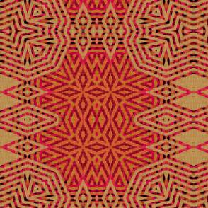 Ikat Fuschia - Large Starry