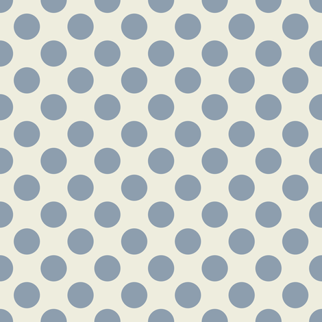 Dark Blue Dots on Cream fabric by jumeaux on Spoonflower - custom fabric