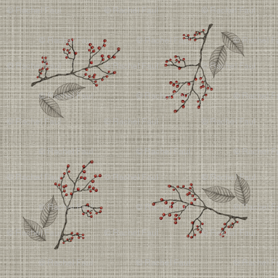 linen and berries