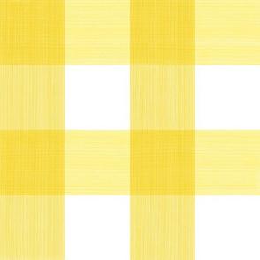 """Bold Yellow 3"""" Buffalo Plaid"""