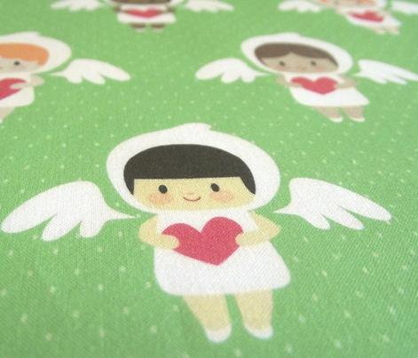 Kawaii angels (green)