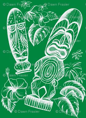 Tiki Holiday Evergreen