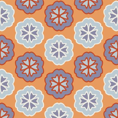 Flower Chevron Yellow fabric by jumeaux on Spoonflower - custom fabric
