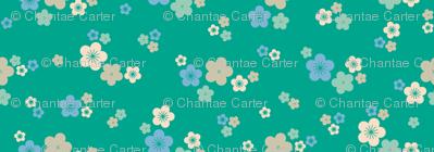 spring blossom in emerald