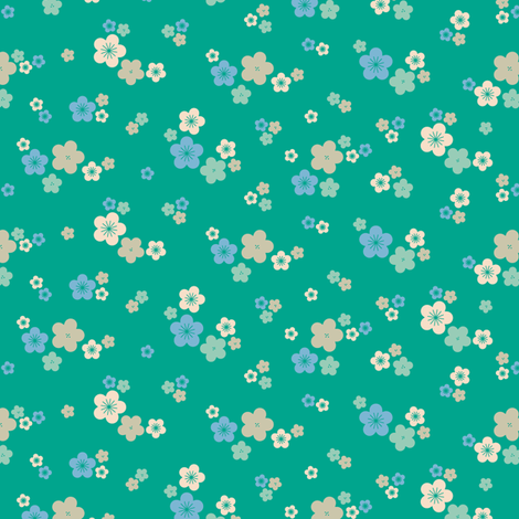spring blossom in emerald fabric by chantae on Spoonflower - custom fabric