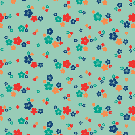 spring blossom in jade fabric by chantae on Spoonflower - custom fabric