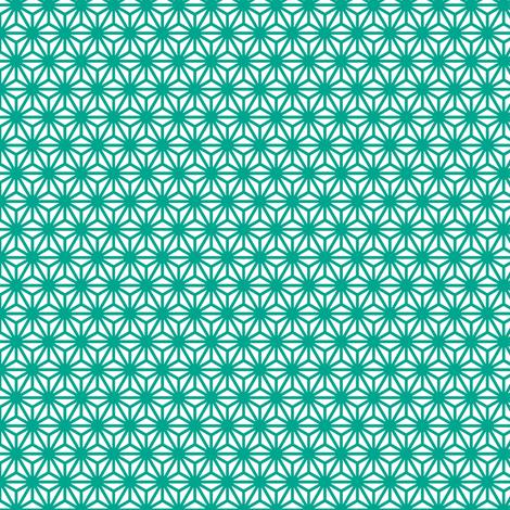 asanoha mini in emerald fabric by chantae on Spoonflower - custom fabric